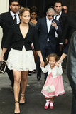 Jennifer Lopez was hand in hand with Emme Anthony to attend Chanel's Paris Fashion Week show.