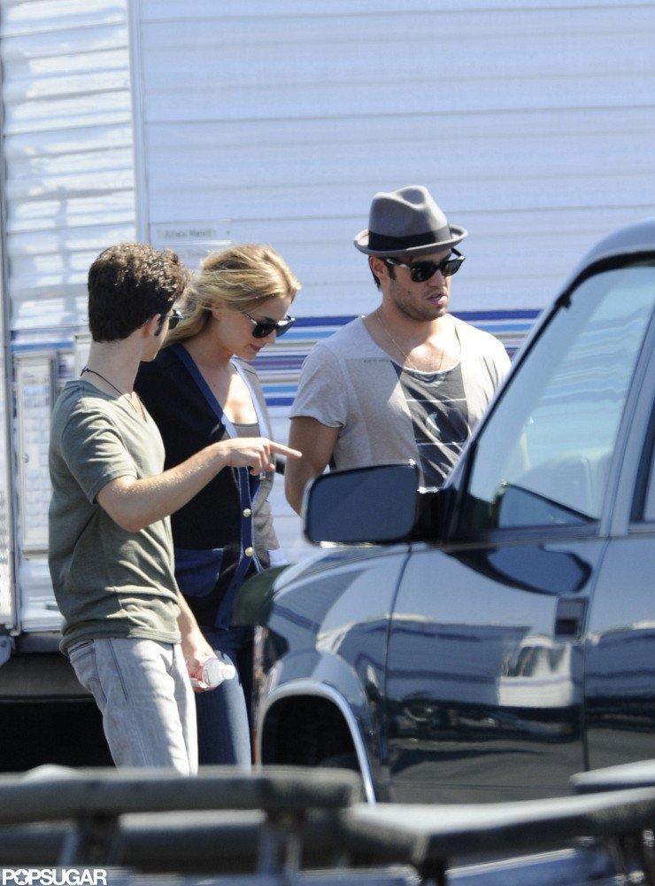 Joshua Bowman and Emily VanCamp filmed Revenge together in LA.