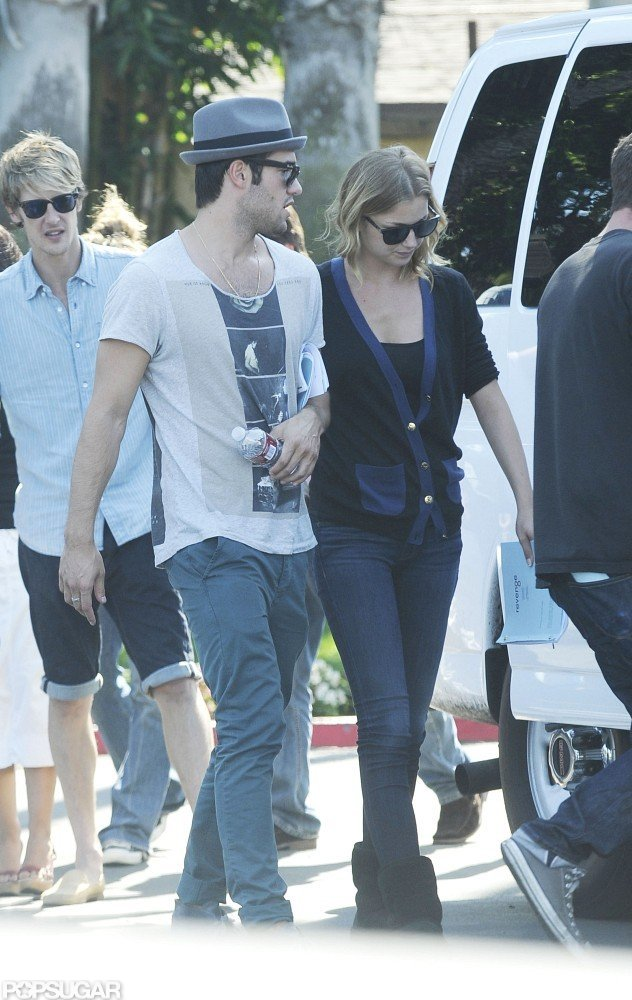 Joshua Bowman and Emily VanCamp stayed close while filming for Revenge together in LA.