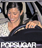 Jessica Biel smiled in LA.