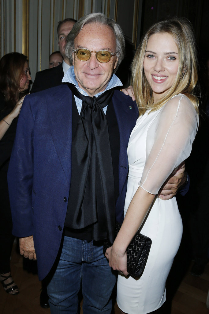 Scarlett Johansson got together with Tod's CEO Diego Della Valle for the Tod's party in Paris.