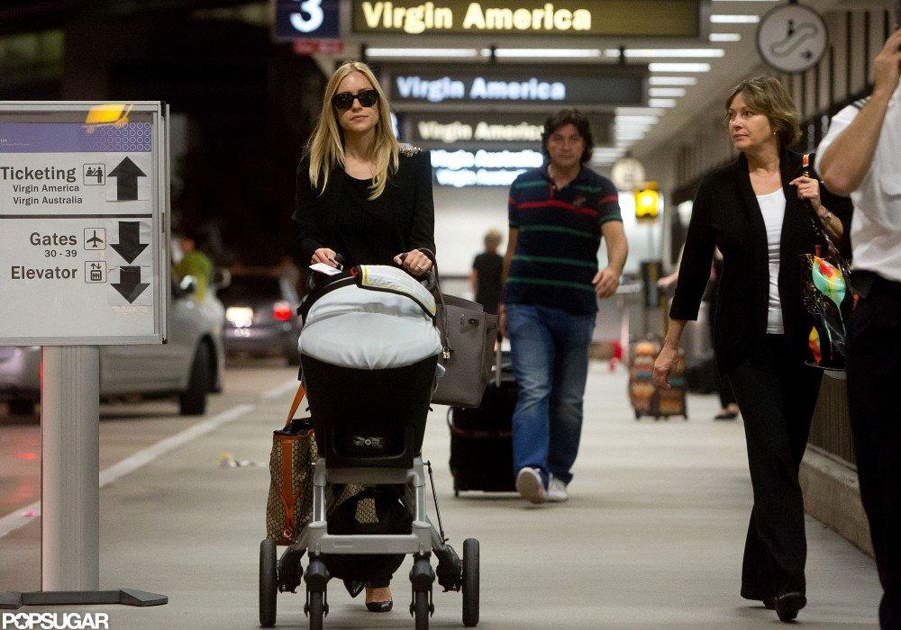 Kristin Cavallari pushed Camden Cutler's stroller.