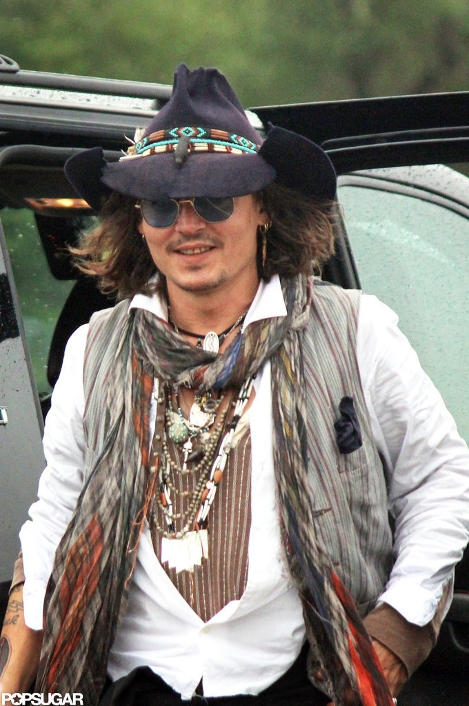 Johnny Depp made an appearance at the Comanche Nation Fair in Lawton, OK.