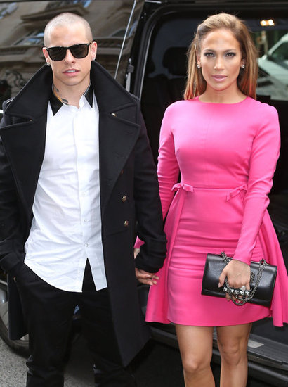 Jennifer Lopez wore a pink dress.