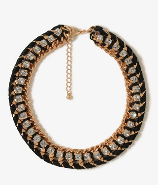 We could imagine wearing this Forever 21 Rhinestoned Rope Chain Necklace ($9) to dress up practically anything in our closets.