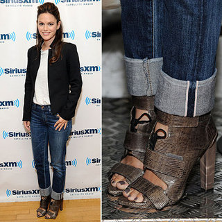 Rachel Bilson Wearing Jeans and a Blazer | October 2012