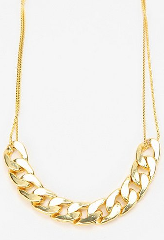 This Vanessa Mooney Chain Necklace ($75) would look perfect peeking out from underneath a collared blouse.