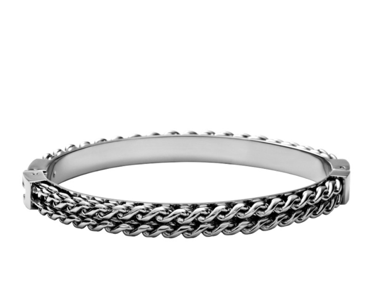 A classic-with-a-twist kind of find, this Fossil Solid Chain Bangle ($68) could easily become a jewelry-box staple.