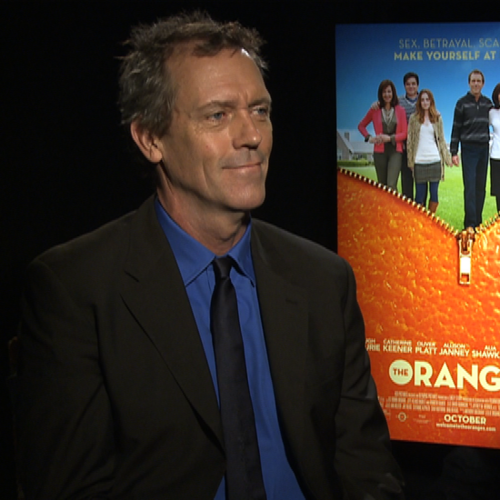 Hugh Laurie and Catherine Keener Interview For The Oranges