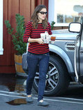 Jennifer Garner stopped by Brentwood's Farmshop.