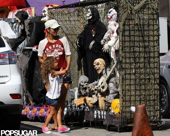 Halle Berry checked out costumes with Nahla in LA.