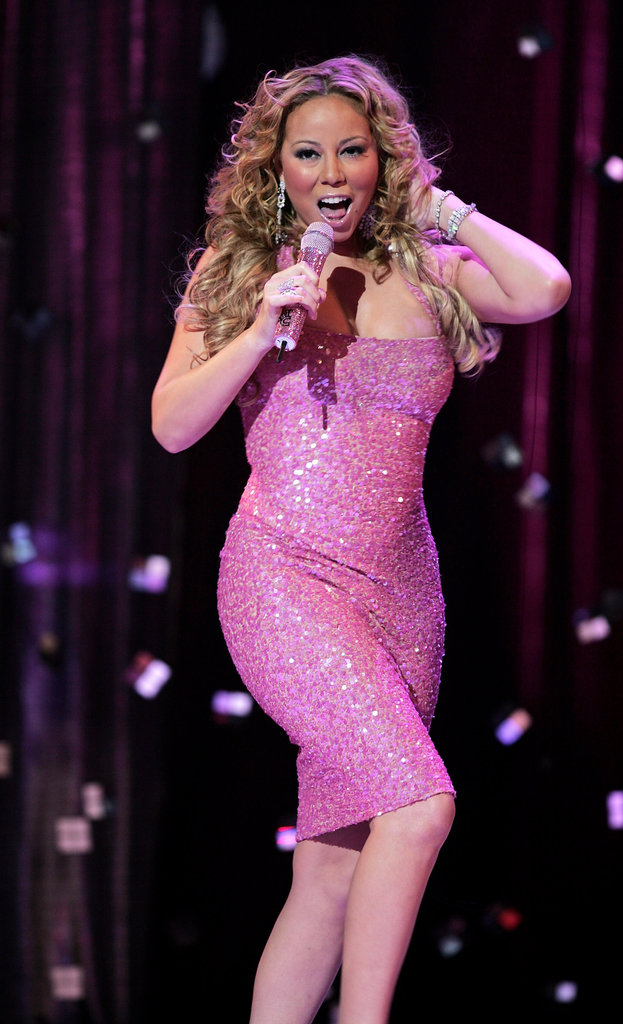 Mariah Carey belted it out on stage at London's Tickled Pink charity concert in September 2005.