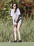 Kristen Stewart tried her hand at putting at a Malibu, CA, golf course in July 2012.
