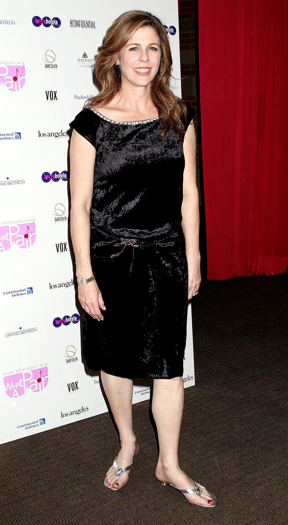 Rita Wilson posed for pictures at a breast cancer benefit in LA in March 2004.