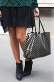 A Goyard tote is always a perfect outfit companion.