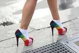 Rainbow-colored platforms would up the ante on any style.