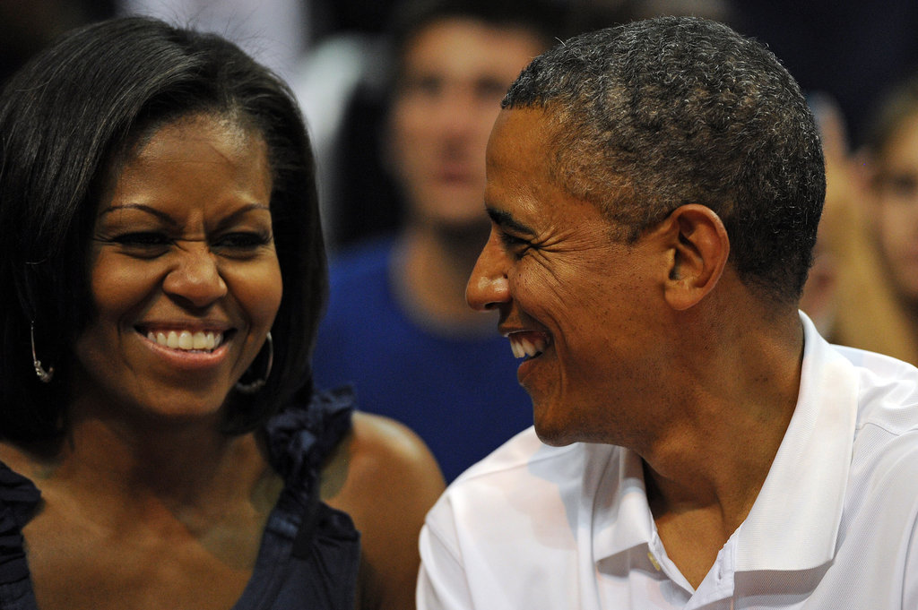 """Our first anniversary, she's the one who forgot! It was Wednesday night, and I said, 'So honey what you want to do this weekend? What you want to do on Friday?' She said, 'What's on Friday?' I said, 'Honey, we've been married a year!'"" — Barack on their first anniversary"