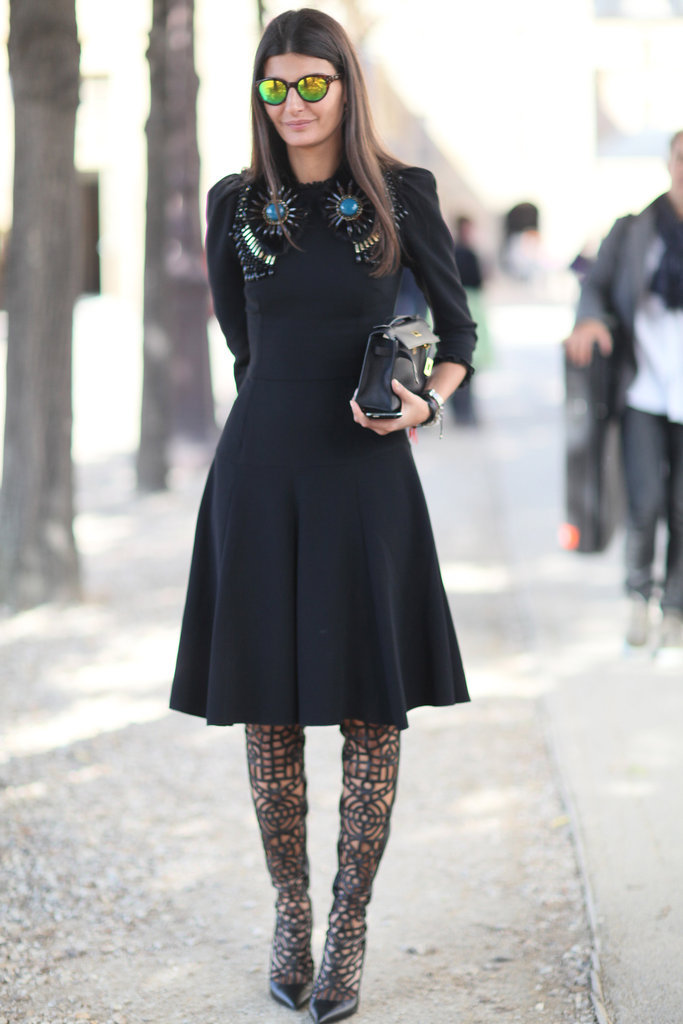 Giovanna battaglia my style Fashion week paris 2013 street style