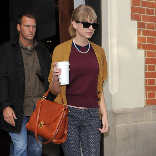 Taylor Swift's Tan Bag
