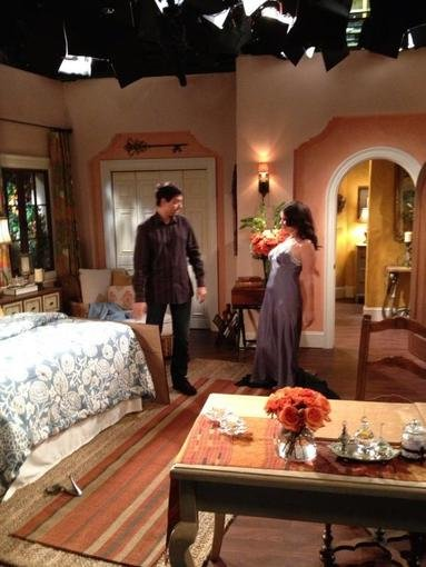 Fran Drescher and Ralph Macchio got back to work on Happily Divorced. Source: Twitter user frandrescher
