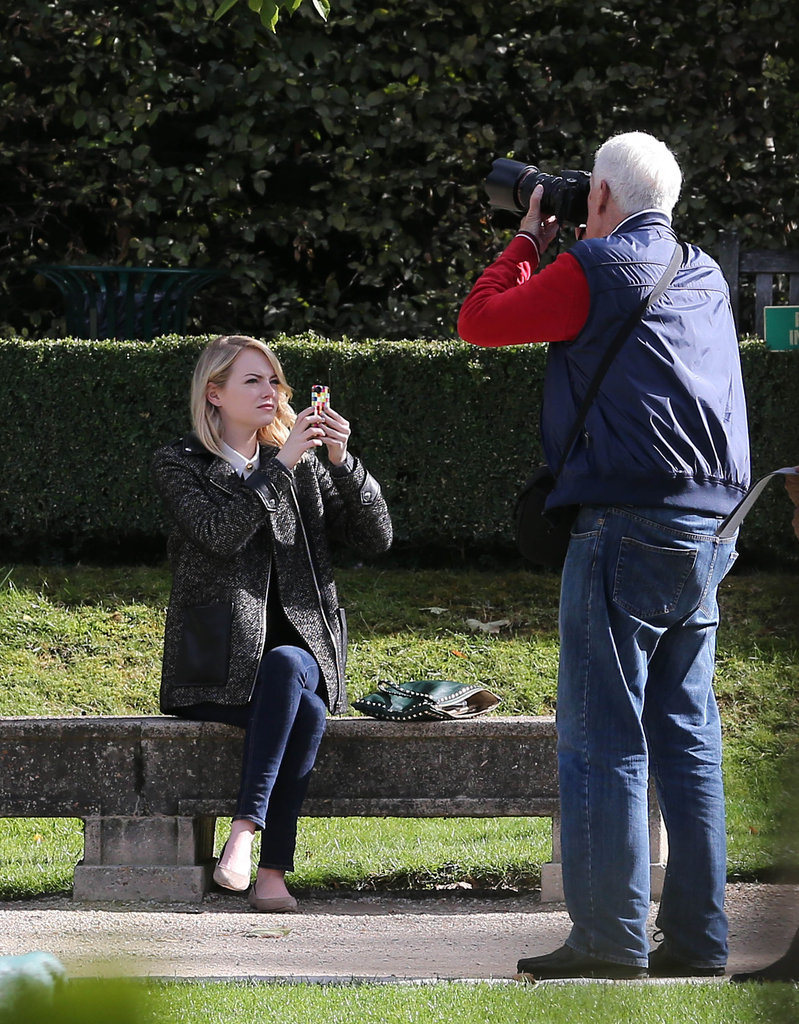 Emma Stone Sticks Around Paris to Play Tourist With a Friend