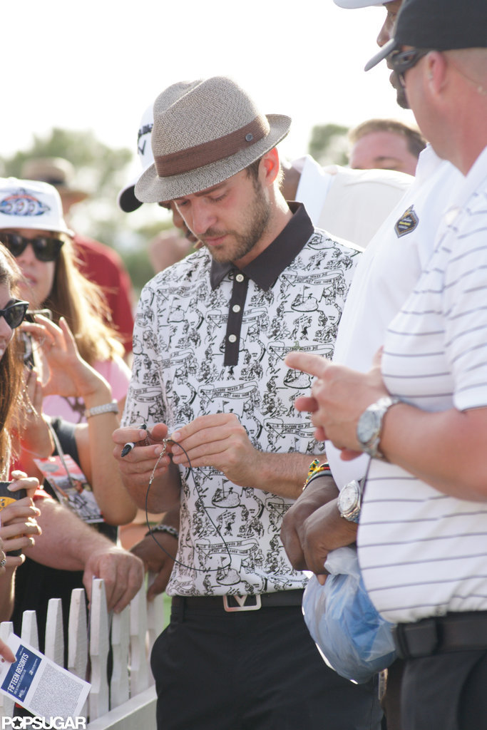 Justin Timberlake Celebrates National Golf Day With a Charitable Round