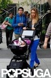 Jessica Alba strolled out of her hotel in NYC with baby Haven Warren.