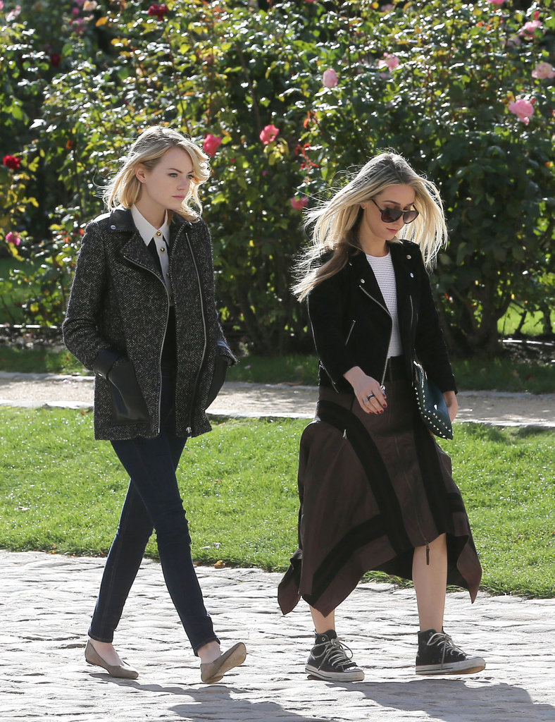 Emma Stone toured Paris with a friend.