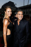 George Clooney and Stacy Keibler Emerge Together to Support Ben Affleck
