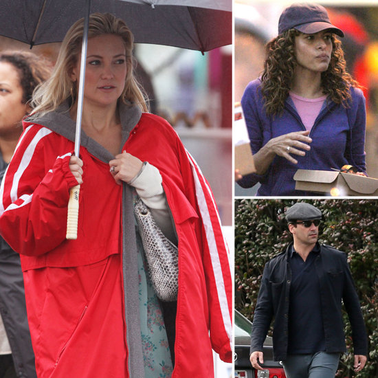 Kate Hudson, Eva Mendes, and Jon Hamm Get to Work in Boston