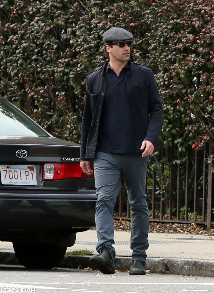 Jon Hamm was in Boston.