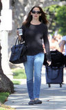 Jennifer Garner wore a pair of Toms in Brentwood.
