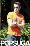 Olivier Martinez sported aviator sunglasses.