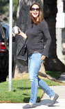 Jennifer Garner was all smiles as she ran errands.