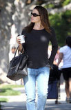 Jennifer Garner kept it casual in jeans.
