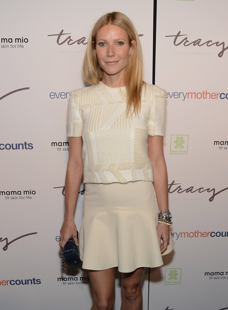 Gwyneth Paltrow stepped out to support Tracy Anderson's new DVD series.
