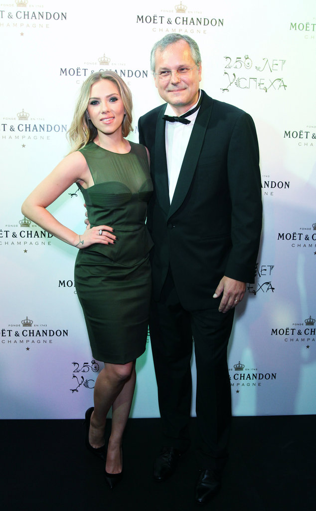 Scarlett Johansson stepped out in Moscow for a party in honor of Moët & Chandon's anniversary in Moscow.