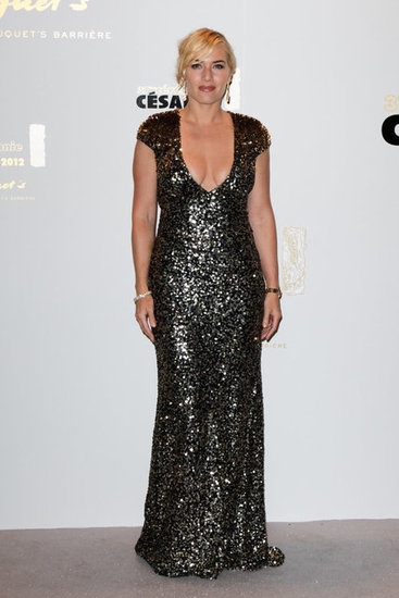 Stunning in sequins — by way of a low-cut Jenny Packham gown — at the César Film Awards in February 2012.