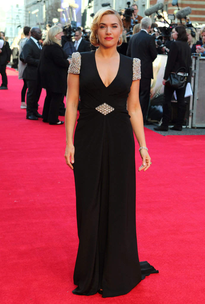 Kate stunned in a Jenny Packham gown at the premiere of Titanic 3D in March 2012.