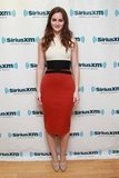 Leighton Meester slipped into a body-conscious Giambattista Valli sheath for a visit to SiriusXM Studios in NYC.