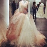 "When you're getting married, there are only two words you need to know besides ""I do"": Vera Wang."