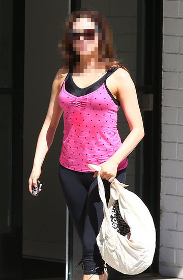 Guess Which Actress Looked Sweaty After the Gym?