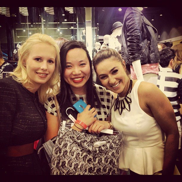 PopSugar editor Jess ran into MasterChef 2012 runner-up Julia Taylor and Alice Zaslavsky at the Topshop and Topman Sydney launch. Source: Instagram user aliceinframes