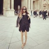 Rumi Neely added a sexy flair to Paris Fashion Week. Source: Instagram user rumineely