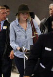 Emma Stone Packs Up Fashion Week Fun and Heads Home