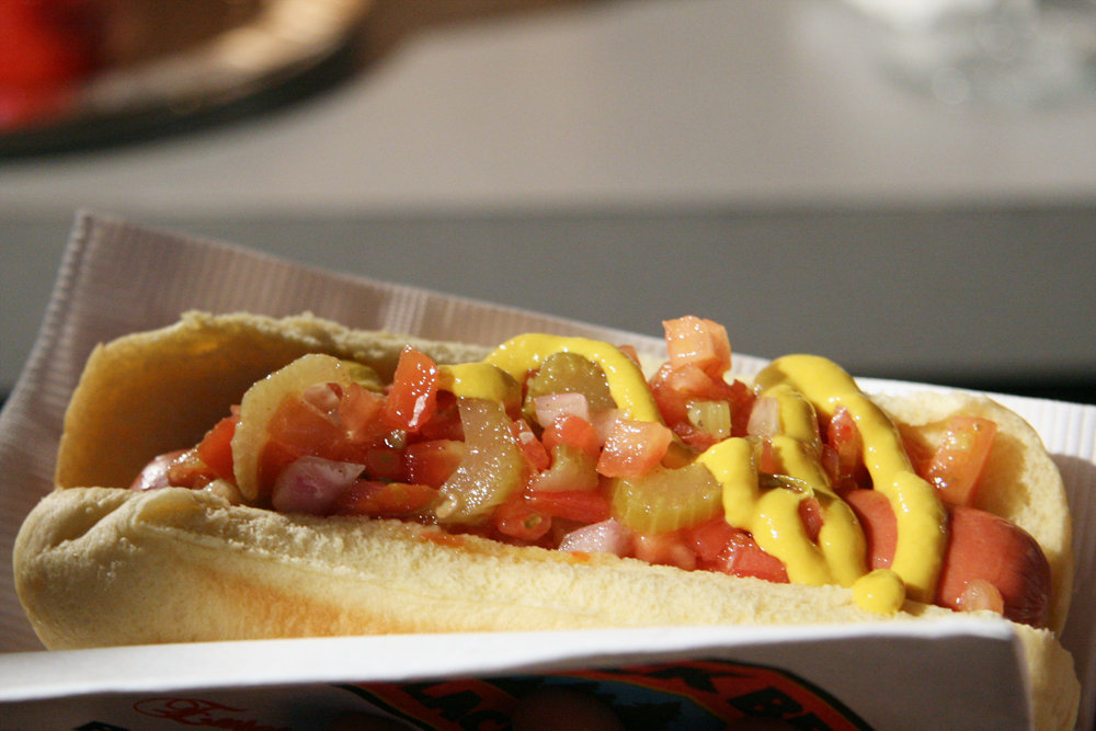 "ShopRite's Black Bear ""Chicago-Style"" Hot Dog"