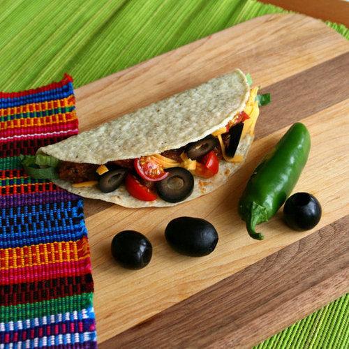 Lentil Tacos with Sliced Olives