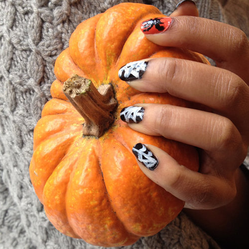 How to Create Cobweb Nail Art