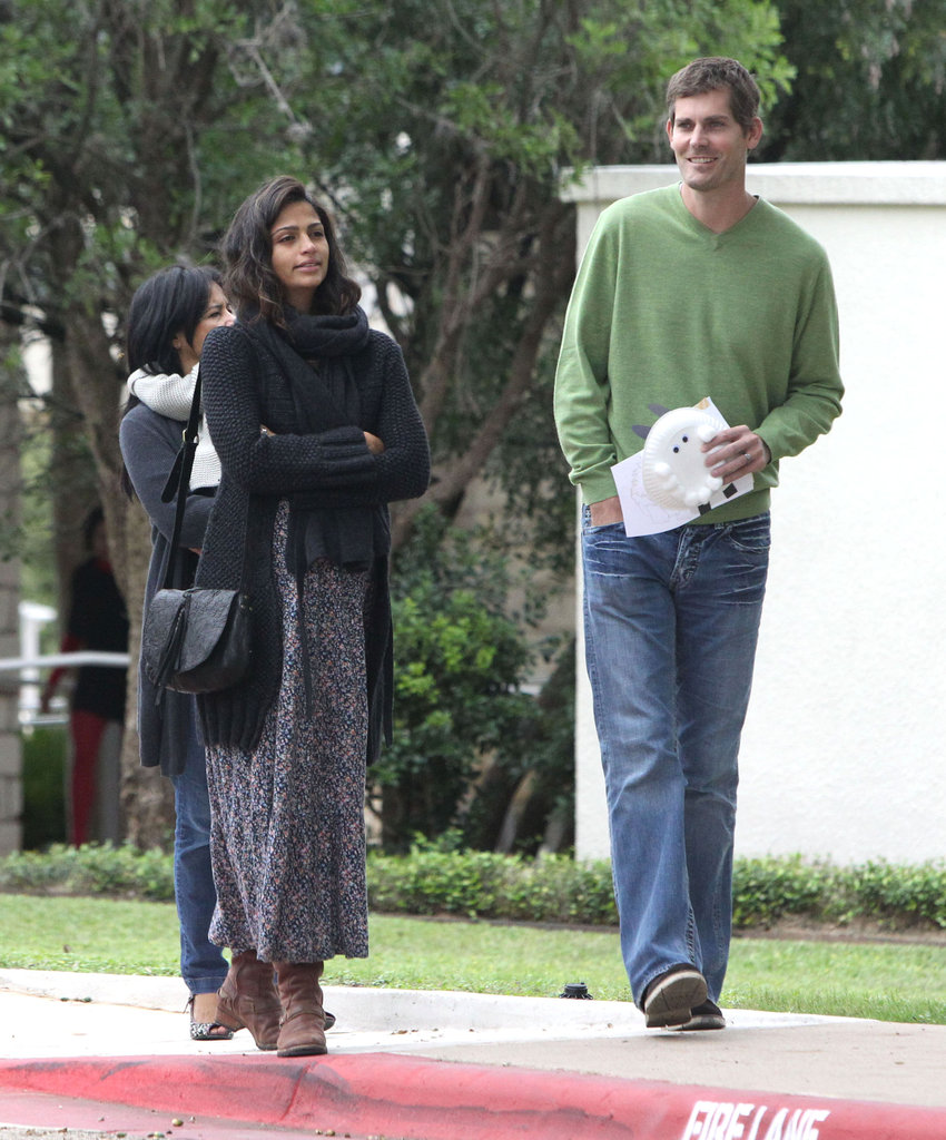 Camila Alves left church with her family and friends.