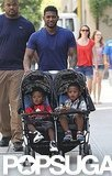 Usher and his boys went for a Summer afternoon stroll through New York City in August 2011.